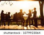 six young entrepreneur... | Shutterstock . vector #1079923064