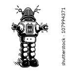 mister robot   retro clipart... | Shutterstock .eps vector #107994371