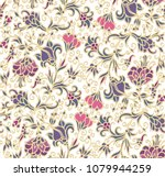 seamless vector floral ornament ... | Shutterstock .eps vector #1079944259