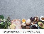 keto  ketogenic diet  low carb  ... | Shutterstock . vector #1079946731