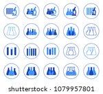 set of vector illustration of... | Shutterstock .eps vector #1079957801