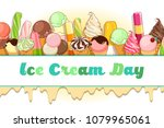 ice cream poster. brightly... | Shutterstock .eps vector #1079965061