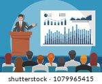 businessmen giving speech or... | Shutterstock .eps vector #1079965415