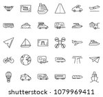 thin line icon set   home... | Shutterstock .eps vector #1079969411