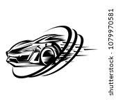 car racing sport design vector   Shutterstock .eps vector #1079970581