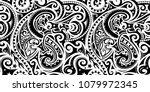 polynesian ethnic pattern. can... | Shutterstock .eps vector #1079972345