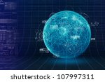 botstorm and world wide... | Shutterstock . vector #107997311