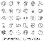 thin line icon set   circle... | Shutterstock .eps vector #1079974151