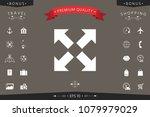extend  resize icon. cross...   Shutterstock .eps vector #1079979029