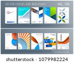 design set of colourful... | Shutterstock .eps vector #1079982224