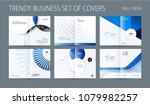design set of blue abstract... | Shutterstock .eps vector #1079982257