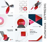 design set of red colourful... | Shutterstock .eps vector #1079982341