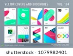 design set of colourful... | Shutterstock .eps vector #1079982401