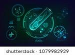concept of genetic engineering  ... | Shutterstock .eps vector #1079982929