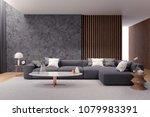 modern luxury living room... | Shutterstock . vector #1079983391