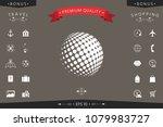 earth logo   halftone sphere   Shutterstock .eps vector #1079983727