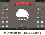 cloud thunderstorm lightning... | Shutterstock .eps vector #1079983841