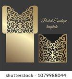 laser cut invitation pocket...   Shutterstock .eps vector #1079988044