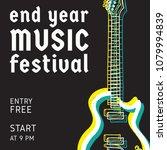 rock and roll  music festival... | Shutterstock .eps vector #1079994839