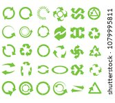 green round recycle vector... | Shutterstock .eps vector #1079995811