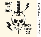 rock and roll music poster.... | Shutterstock .eps vector #1079996894