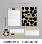 corporate identity business set.... | Shutterstock .eps vector #1080000704