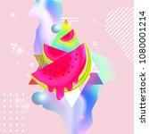fluid multicolored background... | Shutterstock .eps vector #1080001214