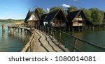 pfahlbauten at unteruhldingen ... | Shutterstock . vector #1080014081