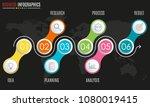 6 steps infographic design.... | Shutterstock .eps vector #1080019415