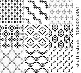 a set of geometric patterns | Shutterstock .eps vector #1080025361