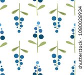 seamless pattern with stylized... | Shutterstock .eps vector #1080028934