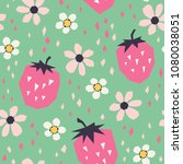 seamless pattern with... | Shutterstock .eps vector #1080038051