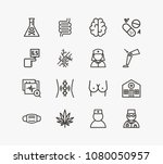 medicine icon set and mask with ...