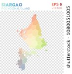 siargao polygonal  mosaic style ... | Shutterstock .eps vector #1080051005