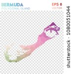bermuda polygonal  mosaic style ... | Shutterstock .eps vector #1080051044