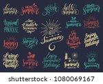 vector set of hand lettering... | Shutterstock .eps vector #1080069167