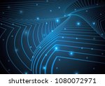technology abstract stripe... | Shutterstock .eps vector #1080072971