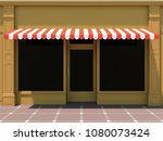shopfront in the sun   classic... | Shutterstock . vector #1080073424
