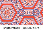 hand painted kaleidoscope tile. ... | Shutterstock . vector #1080075275