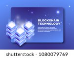 cryptocurrency and blockchain... | Shutterstock .eps vector #1080079769