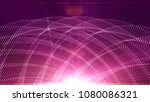 pink colored particles | Shutterstock . vector #1080086321