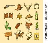 beautiful hand drawn set of...   Shutterstock .eps vector #1080094424