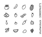 hand drawn doodle fruits and... | Shutterstock .eps vector #1080096371