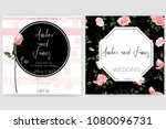 save the date card  wedding... | Shutterstock .eps vector #1080096731