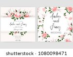 save the date card  wedding... | Shutterstock .eps vector #1080098471