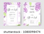 save the date card  wedding... | Shutterstock .eps vector #1080098474