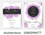 save the date card  wedding... | Shutterstock .eps vector #1080098477