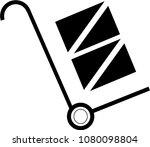 transportation whellbarrow... | Shutterstock .eps vector #1080098804