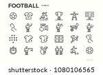 football icons. football... | Shutterstock .eps vector #1080106565