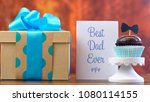 happy father's day close up of... | Shutterstock . vector #1080114155